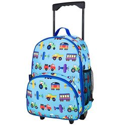 Rolling Backpack, Olive Kids by Wildkin Rolling Luggage with Telescopic Top Grab Handle and Conv ...