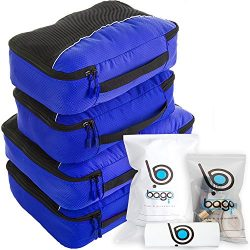 bago Packing Cubes For Travel Bags – Luggage Organizer 10pcs Set (Deep Blue)