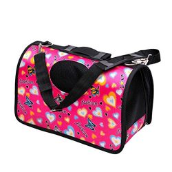 New Dog Cat Soft Portable Tote Carrier House Kennel Pet Travel Bag (Small, Hot Pink)