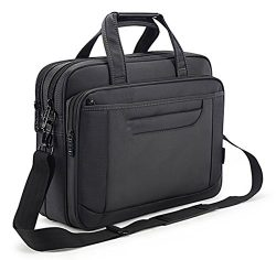 Briefcase Bag 15.6 Inch Laptop Messenger Bag Business Office Bag for Men Women, Waterproof Styli ...