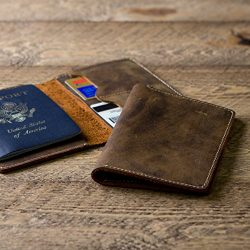 Leather Passport Holder – Distressed Passport Cover Sleeve – Travel Wallet Organizer ...