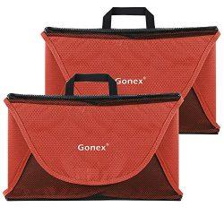 Gonex Packing Folder,15″ Travel Garment Bag for Shirt 2pcs Tangerine