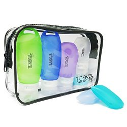 Travel Accessory Bottles (4) Cream Jar (1) Toothbrush Case (2) Bag | Airline Approved