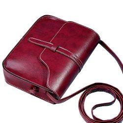 Sunyastor Vintage Purse Bag Leather Cross Body Shoulder Messenger Bag Small Shoulder Bags PU Lea ...