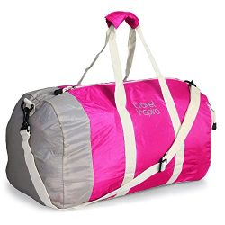 travel inspira Foldable Duffel Travel Duffle Bag Collapsible Packable Lightweight Sport Gym Bag