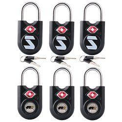 TSA Compatible Travel Luggage Locks, Alloy body with Steel Shackle, Keyed Lock