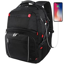 Laptop Backpack 17.3 Inch Waterproof Large Capacity Business Travel Bags College School Students ...