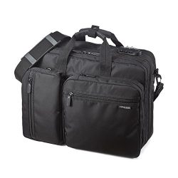 Sanwa 3-in-1 Laptop Briefcase, 15.6 inch Expandable Business Bag, Hand/Shoulder/Backpack, For Ma ...