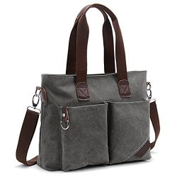 ToLFE Women Top Handle Satchel Handbags Tote Purse Shoulder Bag (Large: (L)14.57″x(W)6.3&# ...