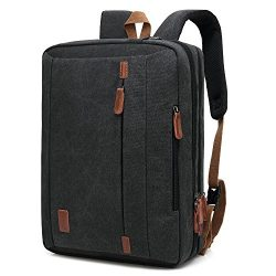 CoolBELL 17.3 Inches Convertible Laptop Messenger Bag Shoulder Bag Canvas Backpack Oxford Cloth  ...