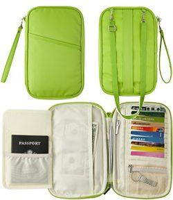 Multifunctional Travel wallet Passport Wallet with Hand Strap, Passport Holder Travel Organizer  ...