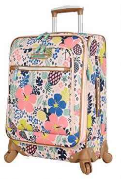 Lily Bloom Luggage Carry On Expandable Design Pattern Suitcase For Woman With Spinner Wheels (Tr ...