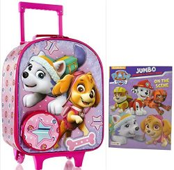 Heys Nickelodeon Paw Patrol 19″ Softside Travel Luggage Rolling Kids Carry on w/ Activity  ...