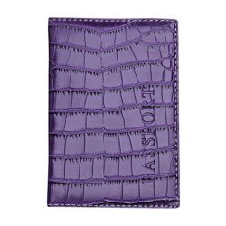 Passport Cover Wallet Bag,Hemlock Travel Passport Card Case Protector Leather Bags (Purple-2)