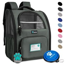 PetAmi Deluxe Pet Carrier Backpack for Small Cats and Dogs, Puppies by Ventilated Design, Two-Si ...