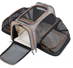 MOVEPEAK Pet Carrier for Dogs,Cats,Puppy with Airline Approved – Expandable Soft sided Pet ...