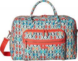 Vera Bradley Iconic Weekender Travel Bag, Signature Cotton, Go Fish