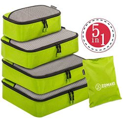 5 Set Packing Cubes for Travel Carry On Luggage Organizer Bags Cubes – with Laundry Bag