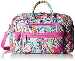 Vera Bradley Iconic Compact Weekender Travel Bag-Signature, Wildflower Paisley