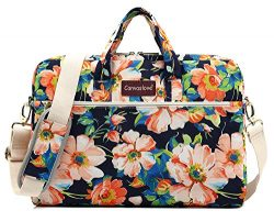 Canvaslove Blue Adenium Obesum Pattern 15 inch Waterproof Laptop Shoulder Messenger Bag Case Wit ...