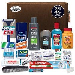 Convenience Kits Men's Premium 20-piece Necessities Travel Kit