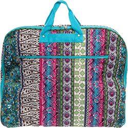 40″ Womens Hanging Garment Bag (Multicolor Boho w/ Turquoise Trim)