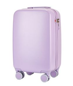 TPRC Women's 20 Inch Candy Color Hardside TSA Rolling Carry On Luggage with Spinner Wheels ...