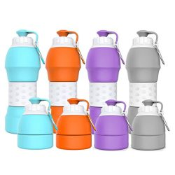 Collapsible water bottle 19.6oz/580ml can Hang a Belt or on the Bike Rack,Pocket,Backpack,Briefc ...
