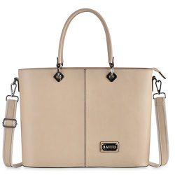 IAITU Laptop Bag, Personalized Work Briefcase Removable Strap for Laptop/MacBook/Ultra-Book (Nude)