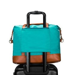 CAMTOP Women Ladies Weekender Travel Bag Canvas Overnight Carry-on Duffel Tote Luggage (Teal)