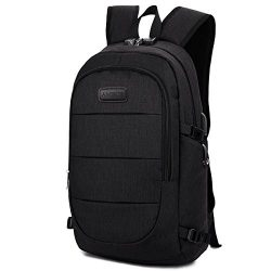 AMBOR Travel Laptop Backpack, Anti Theft Business waterproof Laptop Backpack with USB Charging P ...