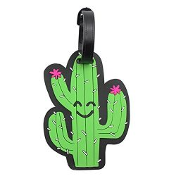 Cactus Luggage Tags for Women Travel Baggage Suitcase Lables Backpack Identifier