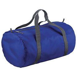 BagBase Packaway Barrel Bag / Duffle Water Resistant Travel Bag (32 Litres) (…