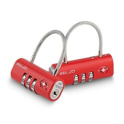 Elzo TSA Approved Luggage Lock, Easy Read Dials and 3 Digits Combination – 2 Pack