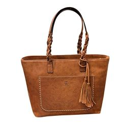 Todaies Hot Sale!Women's Leather Tassels Handbag Shoulder Messenger Bag Ladies Satchel Tot ...