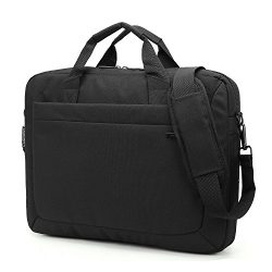 KINGSONS 15.6 Inch Laptop Shoulder Bag Nylon Briefcase Portable Handbag Classical Messenger Hand ...