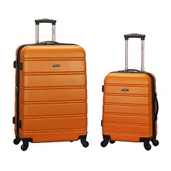 Rockland Luggage 20 Inch and 28 Inch 2 Piece Expandable Spinner Set, Orange