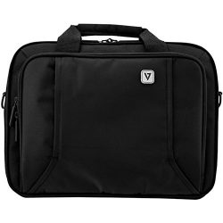 V7 16″ Business Professional FrontLoad Laptop Case – Weather Resistant, Slim Bag, Bl ...