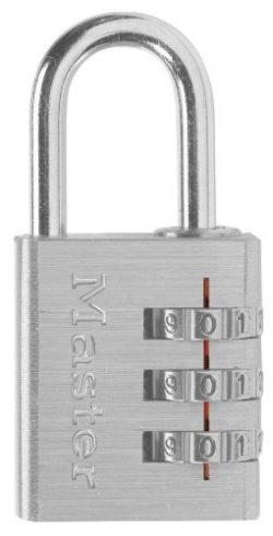 Master Lock Padlock, Set Your Own Combination Luggage Lock, 1-3/16 in. Wide, 630D