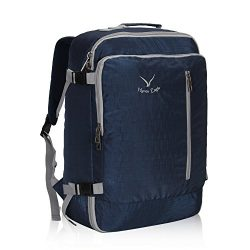 Hynes Eagle 38L Flight Approved Weekender Carry on Backpack, Blue