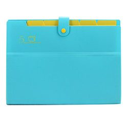 Kobest 5 Pockets Expanding file folder Accordion document Organizer,A4 Size and letter with bout ...