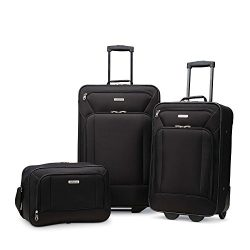American Tourister Fieldbrook Xlt 3pc Set (Bb/21/25 Upright), Black