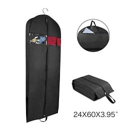Univivi Garment Bag Suit Bag for Travel and Storage 60 Inch, Washable Polyester Oxford Fabric Ga ...