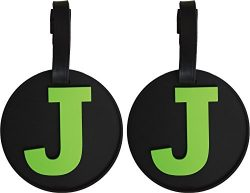 Fifth Avenue Manufacturers Initial Alphabet Luggage Tags, Letter J