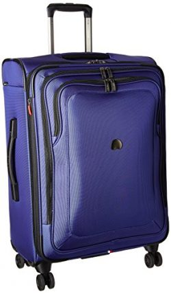 Delsey Luggage Cruise Lite Softside 25″ Exp. Spinner Suiter Trolley, Blue