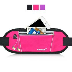 AIKELIDA Running Belt/Fanny Pack/Fitness Belt/Waist Pack for iPhone, Samsung Edge/Note/Galaxy &# ...