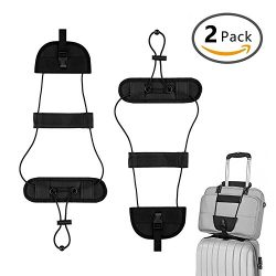 Jianew Bag Bungee, Luggage Straps Suitcase Adjustable Belt 2Pack (Black & 2Pack)