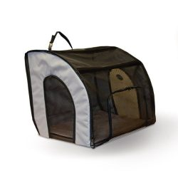 K&H Pet Products Travel Safety Pet Carrier Medium Gray 24″ x 19″ x 17″