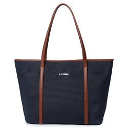 Let It Be Basic Medium Travel Tote Shoulder Bag for Women – 17.7 Inch Top Length Laptop To ...