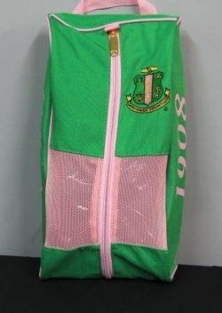 Alpha Kappa Alpha Sorority Green Shoe Bag